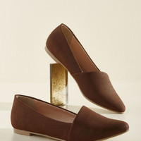 A Roll of the Diagonal Loafer in Cocoa | Mod Retro Vintage Flats | ModCloth.com