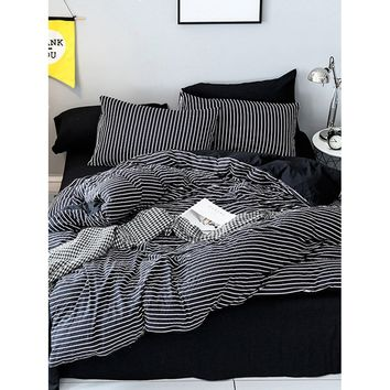 Allover Striped Print Sheet Set