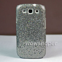 Hard Bling Skin Case Cover For Samsung Galaxy S 3 III S3 I9300 Gray