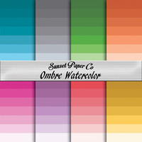 Digital Paper Pack - Watercolor Ombres