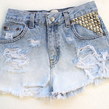 Gap studded high waisted shorts
