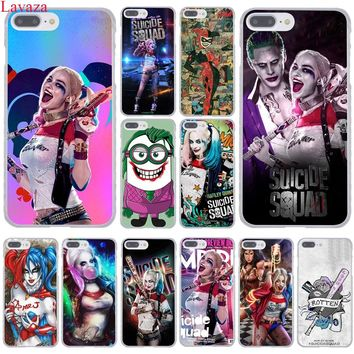Lavaza Harley Quinn Suicide Squad Joker Hard Phone Case for Apple iPhone 8 7 6 6S Plus X 10 5 5S SE 5C 4 4S