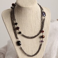Handmade Purple Crystal Necklace  36 inches | peaceloveandallthingsjewelry - Jewelry on ArtFire