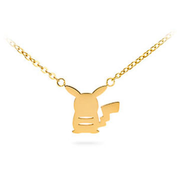 Pokémon Pikachu Gold Back Silhouette Pendant Necklace