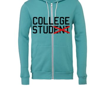 college stud - Unisex Full-Zip Hooded Sweatshirt