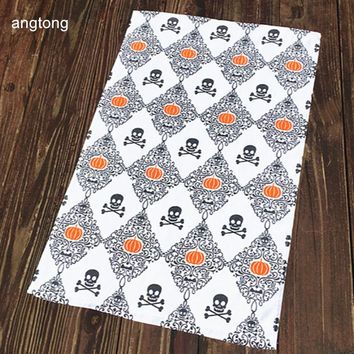 1PC 70X48cm skulls printed face towel soft absorbent