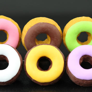 Set of 6 Frosted Doughnuts