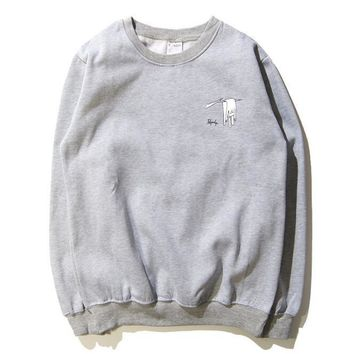 One-nice™ RIPNDIP The middle finger cats Round collar Pullover Hedging Sweater long sleeve sports shirt flag print