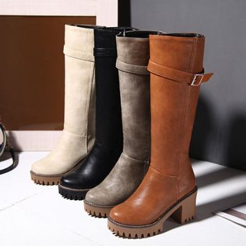 Womens Riding Boots | Platform Boots Knee High