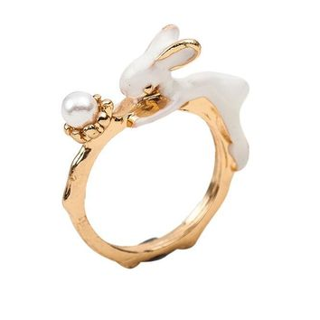 Lovely Bunny Ring or Jewelry bracelet