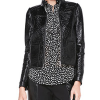 Tory Burch Fae Faux-Leather Jacket/Vest