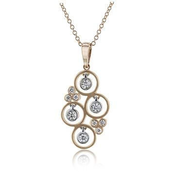 14k White and Rose Gold .18ct Diamond Necklace