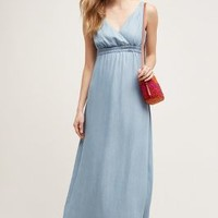 Holding Horses Malpais Maxi Dress in Light Denim Size: