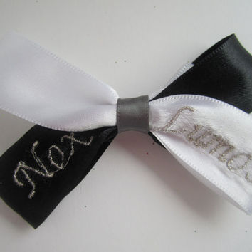 Harry Potter Nox/ Lumos Black and White Hair Bow