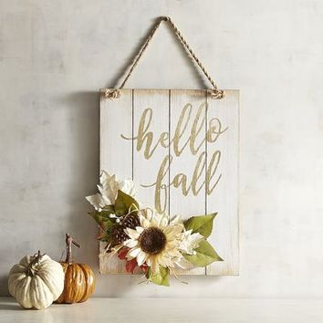 Hello Fall Wall Sign