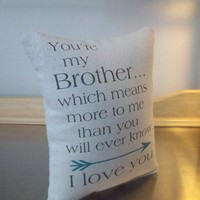 Brother gift pillow best brother gifts throw pillow home decor