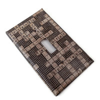 Crossword Puzzle Light Switch Plate, Single Light Switch Cover, Paper Decoupage, Varnished