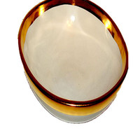 Gold Line Bowl Hand Crafted