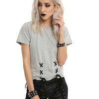 Double Lace-Up Girls Top