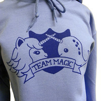 Narwhal Unicorn Hoodie  TEAM MAGIC Hooded by theboldbanana on Etsy