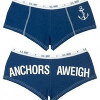 Rothco Women's Booty Anchors Aweigh/Shorts, Blue, X-Large