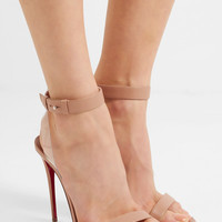 Christian Louboutin - Jonatina 100 PVC-trimmed leather sandals