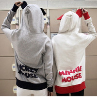 Love Romantic Disney Mickey Mouse and Minnie Mouse Like Cute Hoodie for Couples