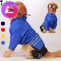Large Dog Raincoat Clothes For Big Dogs Outdoor Coat Waterproof Clothing