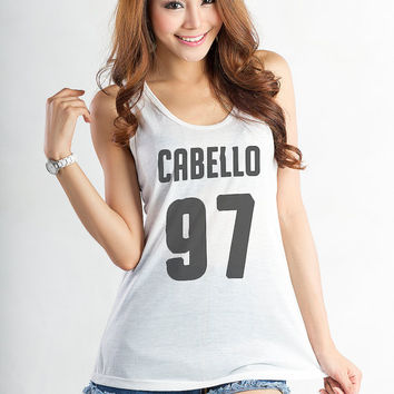 Fifth Harmony Shirt Camila Cabello 97 Womens T Shirt Tank Top Tumblr Workout Tanks for Gym Pinterest Instagram Hipster Teens Girl Cool Gift