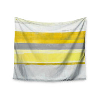 "CarolLynn Tice ""Lemon"" Yellow Gray Wall Tapestry"