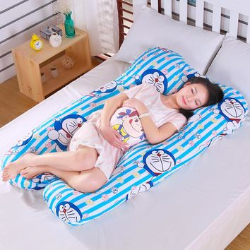 Doraemon U Shaped Belly Bed Pillow Pregnancy Large Pillows Maternity Body Lumbar Pillow Women Pregnant Side Sleepers Cushion