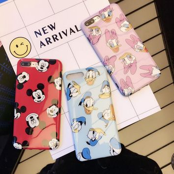 Donald Duck and Daisy phone Cases For iphone 6 6s 6plus 7 7Plus Glossy soft silicon case back cover for iphone 8 8plus
