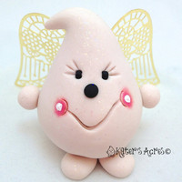 ANGEL PARKER with WINGS - Polymer Clay Character Figurine