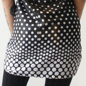 Free shipping Black and white dress, retro dress