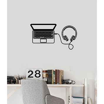 Vinyl Wall Decal Laptop Headphones Gadgets Teenage Teen Room Interior Stickers Mural (ig5979)