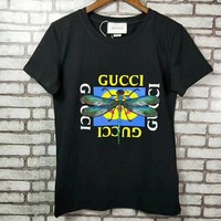 """Gucci"" Women Casual Fashion Letter Print  Pattern Short Sleeve T-shirt Top Tee"