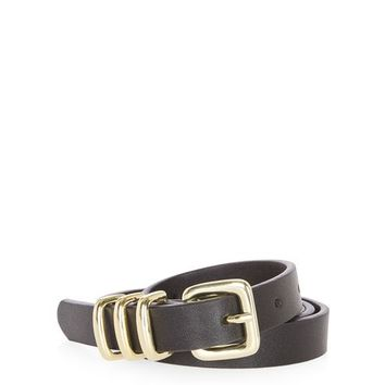 PU Skinny Triple Keeper Belt - New In