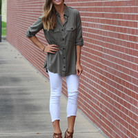 Olivia Button Down