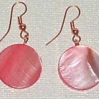 "Women's ""I Am Deserving Of Goodness"" Earrings Purpink,  and Copper."