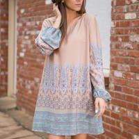 Border Line Dress, Taupe