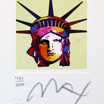 Liberty Head IX (mini), Limited Edition Lithograph, Peter Max