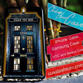 Exclusive tardis sherlock holmes iPhone for 4 5 5c 6 Plus Case, Samsung Galaxy for S3 S4 S5 Note 3 4 Case, iPod for 4 5 Case, HtC One M7 M8