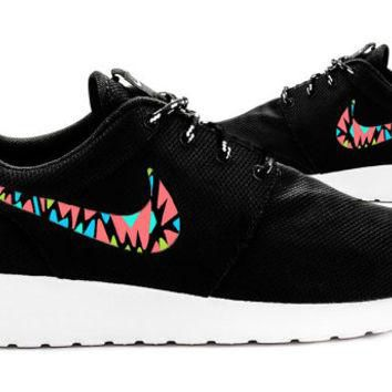 Womens Custom Nike Roshe Run sneakers, Infrared, Aqua, Teal, Lime, trendy design, Cute