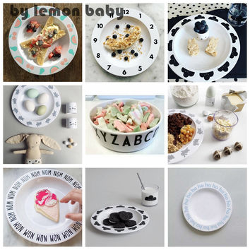 1pc Baby Fedding Dinner Letter Bowl / Cartoon Plates Child Dinnerware Kid Safety Melamine / Plastic Snack Bowl Tableware XHH8112