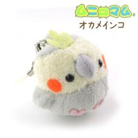 Strapya World : Soft and Downy Mini Bird Stuffed Toy Cell Phone Strap (Cockatiel / Grey)【Parakeet】【xmas】