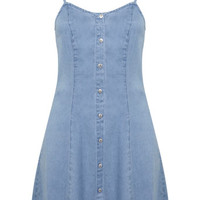Button Through Denim Dress