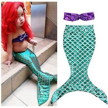 2 Piece Fashion Mermaid Outfit For Little Girl