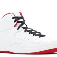 PEAPN Ready Stock Nike Air Jordan 2 Retro History Of Flight White Varsity Red Black Basketball Sport Shoes
