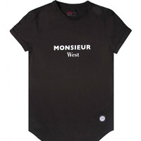 Sixth June t-shirt Monsieur West black 1244C