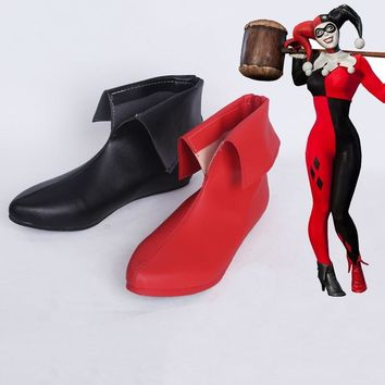 New Arraval Batman DC Comic Suicide Squad Harley Quinn Clown Cosplay Costume Shoes Cosplay Boots